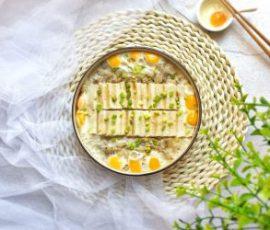 Món đậu hũ hấp trứng thịt cho bữa tối thêm hấp dẫn