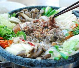 Món lẩu bò kiểu Hàn nóng hổi thơm lừng