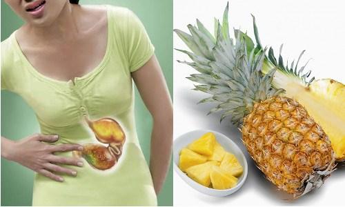 Người bị viêm loét đường tiêu hóa không nên ăn dứa