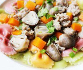 Món nui nơ nấu thịt băm bổ dưỡng cho bé
