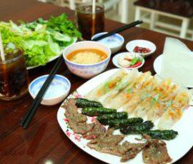 Món ram thịt nướng Quảng Ngãi ngon lạ miệng