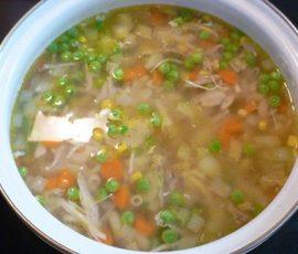 Món súp đậu Hà Lan ngô thơm ngon khó cưỡng
