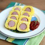 Món trứng cuộn xúc xích ngon miệng hấp dẫn cho bé yêu