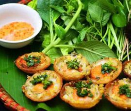 Món bánh khọt Vũng Tàu mang hương vị của phố biển