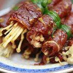 Món bò cuộn nấm kim châm ngon hấp dẫn