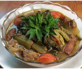 Món bò kho dưa cải ngon miệng đưa cơm