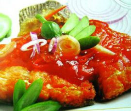 Món cá hồi sốt cà chua bổ dưỡng cho trẻ