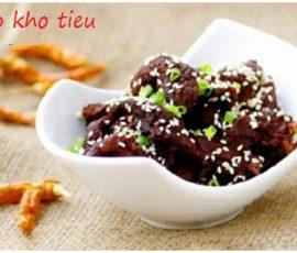 Món thịt bò kho tiêu ngon bổ dưỡng