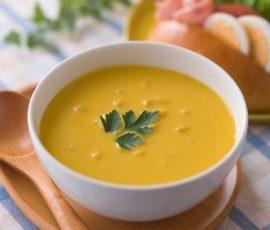 Món khoai lang hầm bí đỏ mang hương vị hài hòa