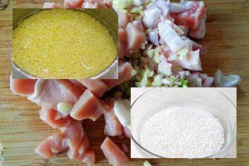 Chuẩn bị gạo nếp và các nguyên liệu