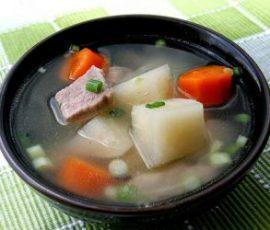 Món canh su hào nấu xương ấm lòng ngày se lạnh