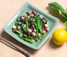 Món đậu đỏ xào cải ngồng thơm ngon dinh dưỡng