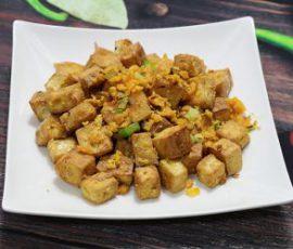 Món đậu chiên trứng muối đậm đà đưa cơm