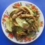 Món lòng bò xào chua ngọt Quảng Nam