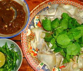 Mít luộc chấm mắm Quảng Trị