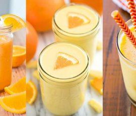 Món sinh tố cam sữa ngon tuyệt mà đơn giản