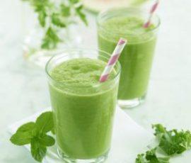 Món sinh tố rau má dừa đậu xanh thanh nhiệt cho cả nhà