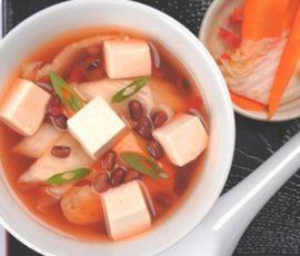 Món súp đậu đỏ đậu hũ non cực mát cho ngày hè