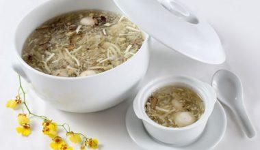 Món súp giá đỗ nấm đông cô thơm ngon