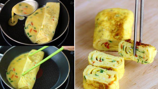 Cách làm trứng cuộn