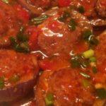 Món cà tím nhồi thịt sốt cà chua lạ miệng