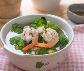 Món canh súp lơ nấu tôm tươi thanh mát cho ngày hè