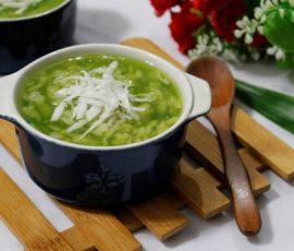 Món chè cốm xanh ngon gợi nhớ mùa thu Hà Nội