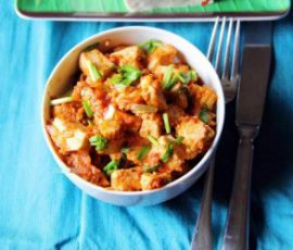 Món đậu phụ ngô bao tử sốt cà chua ngon tuyệt