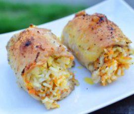 Món thịt gà cuộn cơm ngon lạ miệng