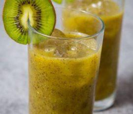 Món sinh tố kiwi ngọt mát cho ngày nắng nóng