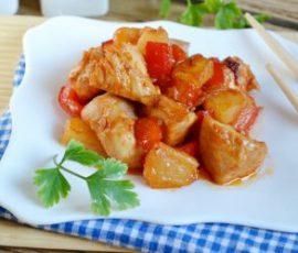 Món thịt gà xào thơm chua ngọt ngon đậm đà