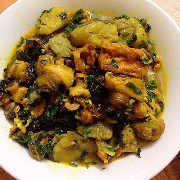 Món ốc nấu đậu