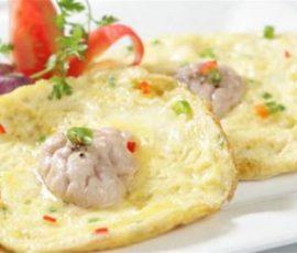 Món trứng rán óc heo ngon bổ dưỡng