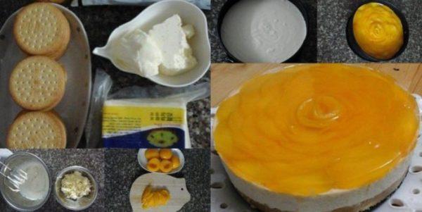 Món bánh đào vị quất cùng kem phô mai mới lạ