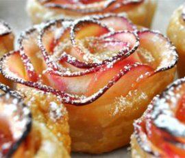 Món bánh táo hoa hồng vừa ngon vừa đẹp mắt