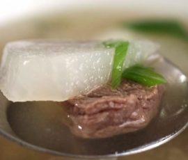 Món bò hầm củ cải trắng ngon bổ dưỡng