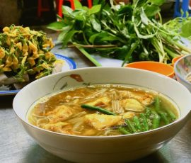 Món bún cá Num-bo-chóc mê hoặc thực khách