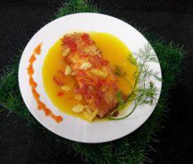 Món cá hồi sốt cam vừa thơm vừa ngọt