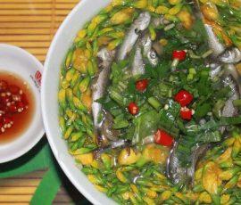 Canh chua cá linh bông điên điển miền sông nước