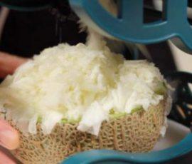 Món dưa lưới đá bào giúp giải nhiệt ngày hè