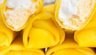 Món bánh sầu riêng kem tươi ngon khó cưỡng