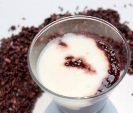 Món chè nếp cẩm sữa chua mát lạnh ngày hè