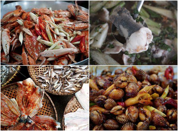 Thưởng thức các món hải sản tại chợ hải sản