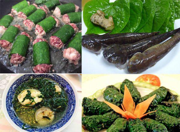 Một vài món ăn đặc trưng từ lá lốt