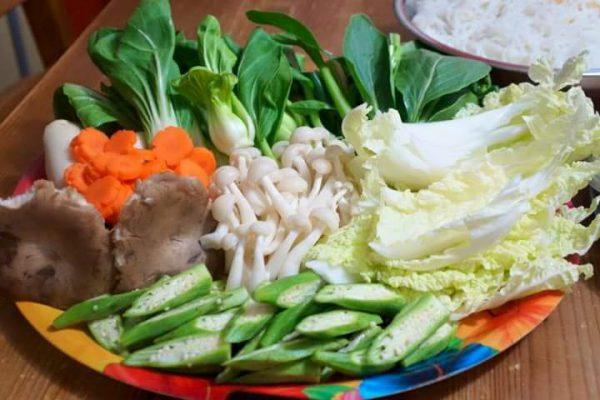 Chuẩn bị các loại rau củ