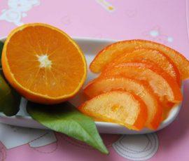Món mứt cam vàng óng dẻo ngon đón Tết