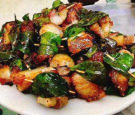Món thịt ba chỉ cuộn lá mắc mật thơm lừng