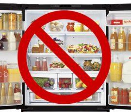 Thực phẩm không nên bảo quản trong tủ lạnh