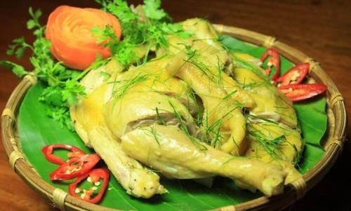 Món gà hấp muối sả bằng nồi cơm điện