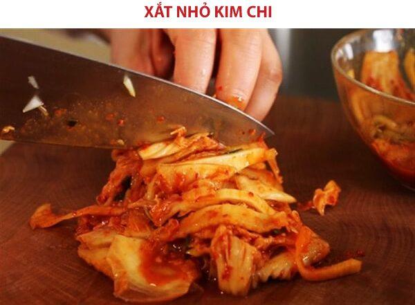 Kim chi cắt miếng nhỏ